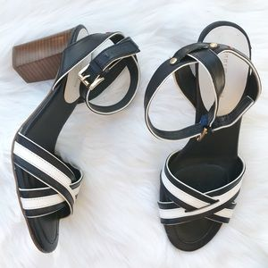 Tommy Hilfiger block heeled ankle strap sandals